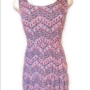 Pink Rose Floral Mini Dress